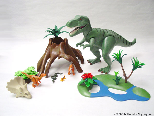 Playmobil dinosaurs t rex and velociraptors 4171 - Dinosaur playmobile ...