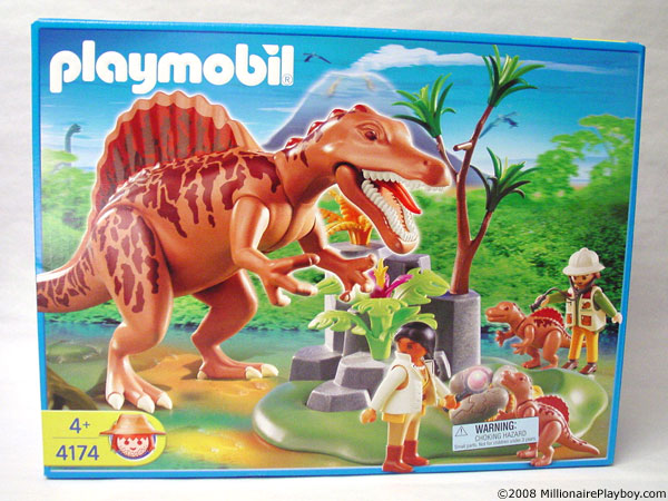 Playmobil dinosaur spinosaurus babies and explorers 4174 - Dinosaur playmobile ...