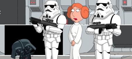 Family Guy Lois as Princess Leia