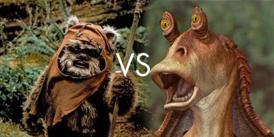 Ewoks vs Jar Jar