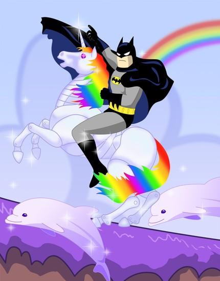 http://www.millionaireplayboy.com/mpb/wp-content/uploads/2010/07/Batman-riding-robot-unicorn-print.jpeg